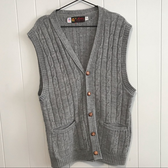 Jersild Other - Jersild gray knit sweater cardigan vest vintage